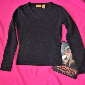 Sweaters - womens small gray v neck soft sweater shirt top